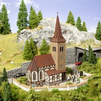 """Église """"St. Georges"""" avec des cloches sonores -HO 1/87-NOCH 66906"""