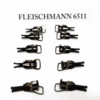 10 attelages boucle NEM-HO-1/87-FLEISCHMANN 6511