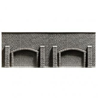 Mur d'arcade type pierres-HO 1/87-NOCH 58058