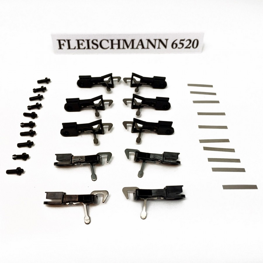 10 attelages crochet ancien modèle-HO-1/87-FLEISCHMANN 6520