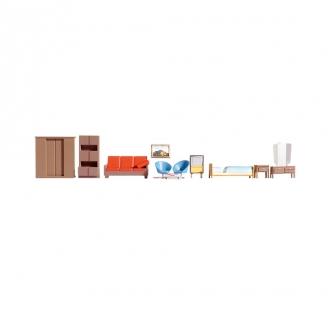 Ensemble de meubles -HO 1/87-NOCH 14832