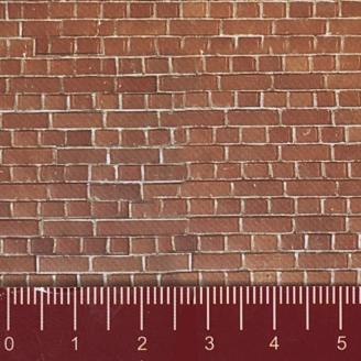 """Longue plaque """"Mur de briques"""" Souple-HO 1/87-NOCH 57730"""