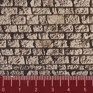 "Longue plaque ""Mur en pierres de taille"" Souple-HO 1/87-NOCH 57740"