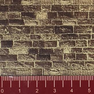 """Longue plaque """"Mur de grès"""" Souple-HO 1/87-NOCH 57750"""