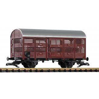 Wagon transport de bestiaux à 2 essieux DR Ep III - G 1/22.5 - PIKO 37955