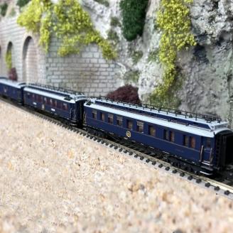 3 voitures CIWL Simplon Express-N 1/160-HOBBYTRAIN H22107
