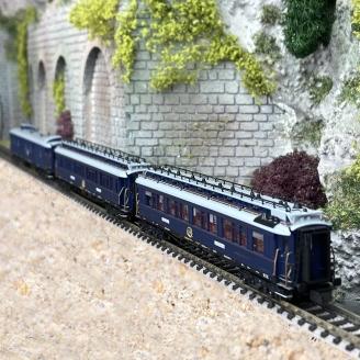 3 voitures CIWL Simplon Express-N 1/160-HOBBYTRAIN H22106