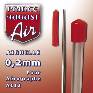 Aiguille 0.2 mm pour aérographes A112 / A011 - PRINCE AUGUST AA102