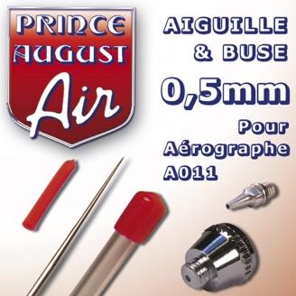 Aiguille & Buse 0,5 pour aérographe A011 - PRINCE AUGUST AA025
