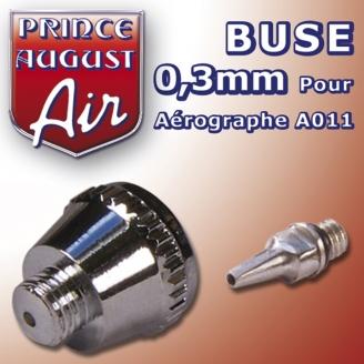 Buse 0,3 pour aérographe A011 - PRINCE AUGUST AA013
