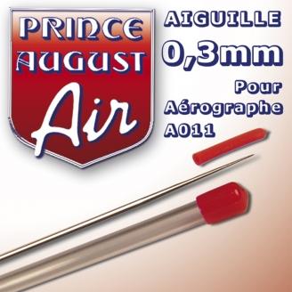 Aiguille 0,3 pour aérographe A011 - PRINCE AUGUST AA003