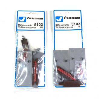 2 lampadaires muraux - H0 1/87 - VIESSMANN 6442 DEP256-083