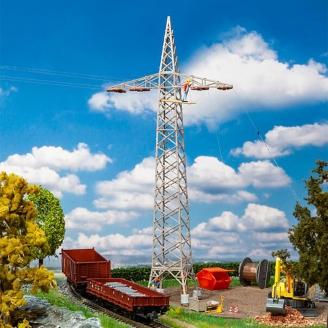 Pylônes de câbles aériens (x2) - FALLER 120377 - HO 1/87