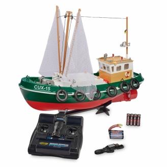 Bateau de Pêche RC Cux-15, 2.4 Ghz RTN - CARSON 500108031