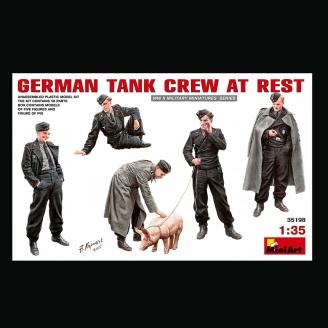 Figurines équipage de char Allemand (Au repos) - MINIART 35198 - 1/35