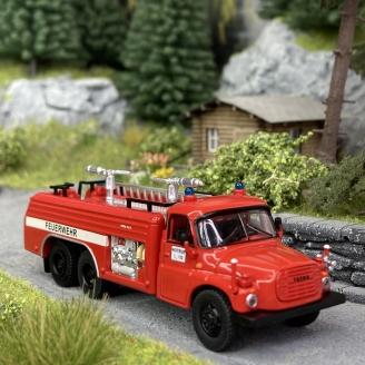 Camion de Pompiers Tatra T148 - SCHUCO 452663200 - HO 1/87