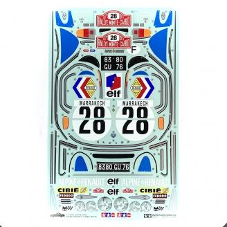 Planche de Stickers Alpine A110 - TAMIYA 9495232 - 1/10