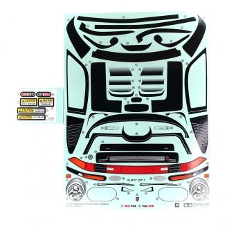 Planche de Stickers Porsche 911 GT1 - TAMIYA 9494224 - 1/10