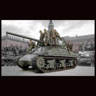 Tank M4A1 Sherman avec infanterie US - 1/35 - ITALERI 6568