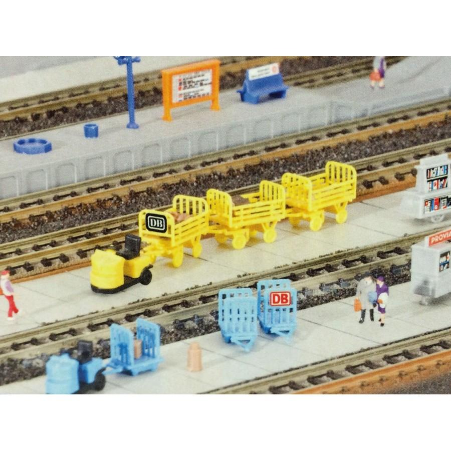Assortiment de wagonnets de Gare-N-1/160-KIBRI 37530