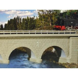 Pont à arc 1 voie en maçonnerie-N-1/160-KIBRI 37660