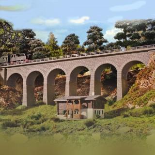 Viaduc droit 1 voie-N-1/160-KIBRI 37663