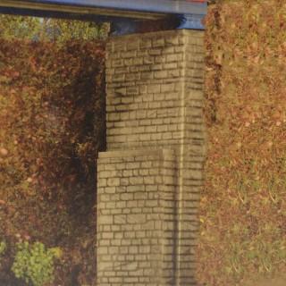 2 Têtes de Pont en maçonnerie-N-1/160-KIBRI 37672