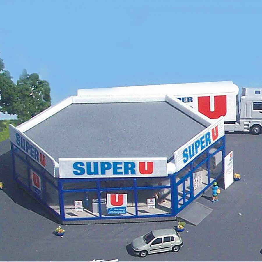 Super U marché avec station service-HO-1/87-SAI