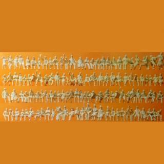 120 figurines assises à peindre-HO-1/87-PREISER