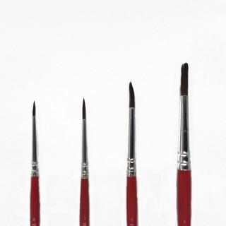4 pinceaux 0,2,4,6 fin pour maquette et décor-HUMBROL