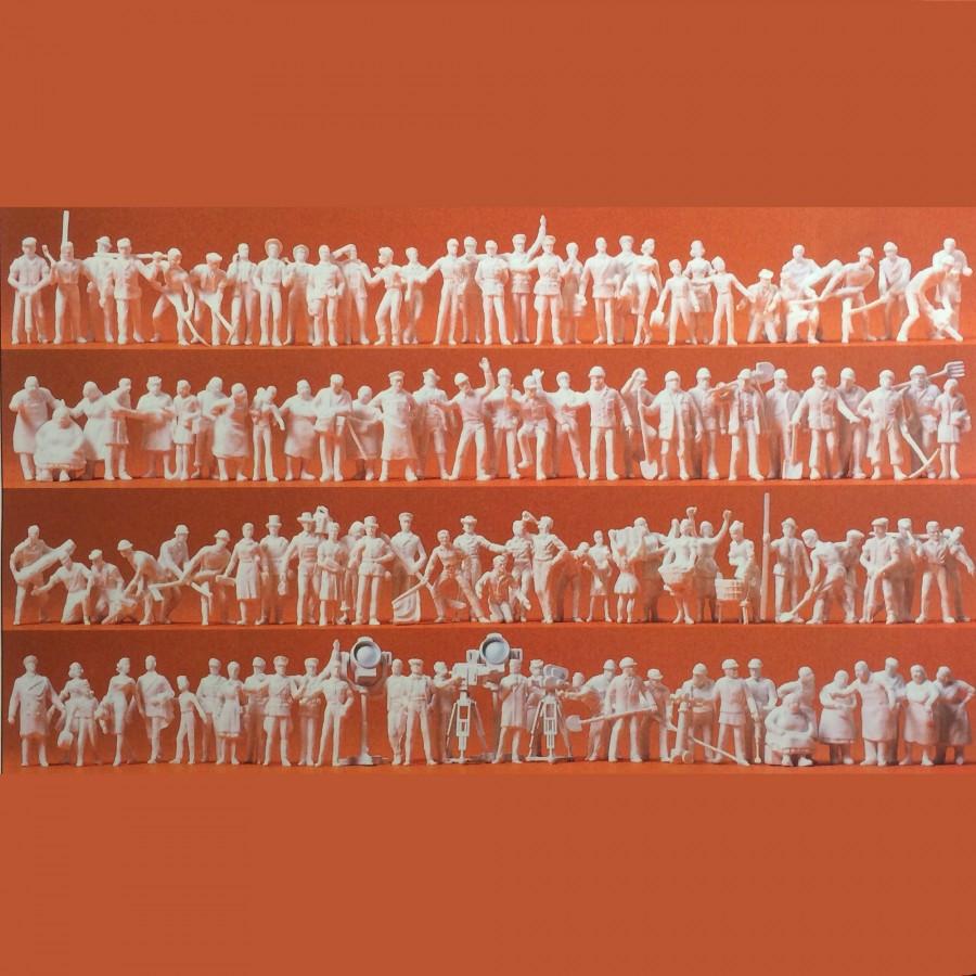 120 figurines à peindre travaux, passants et cinéastes-HO-1/87-PREISER