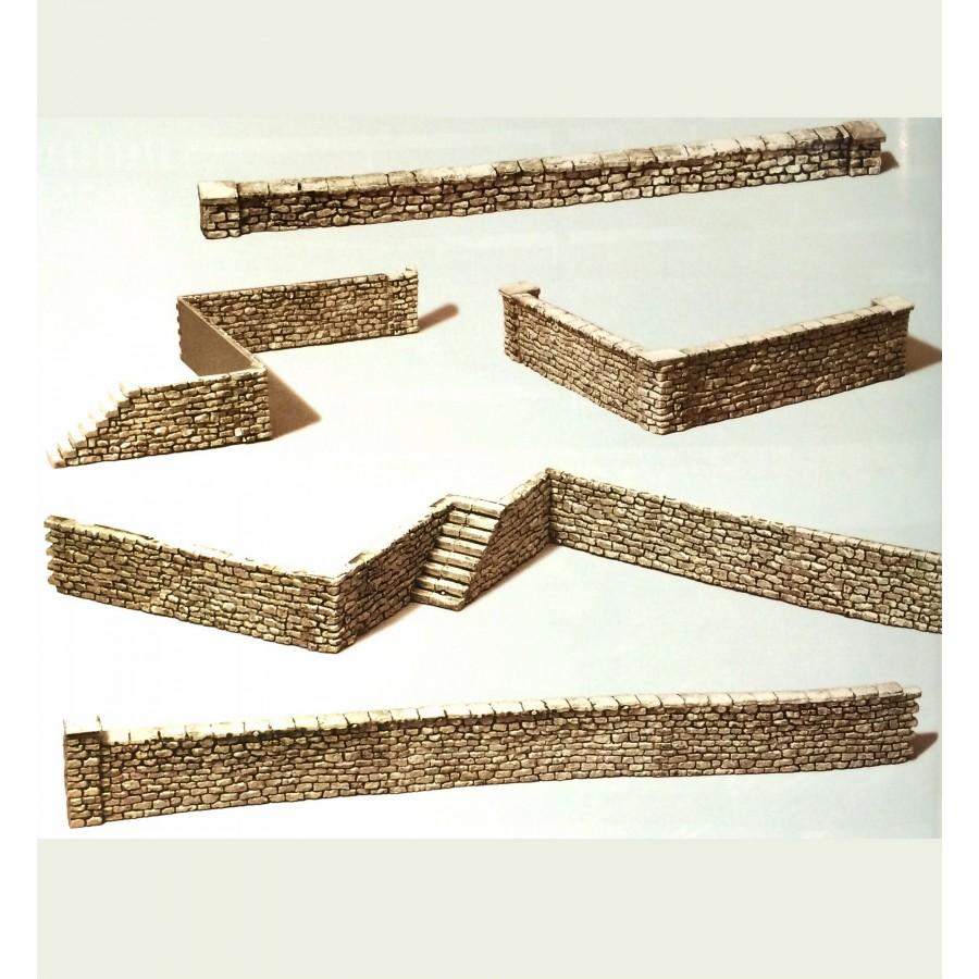 Mur en pierres maçonnées-HO-1/87-PREISER