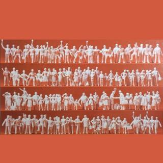 120 figurines de gare passants et personnels-HO-1/87-PREISER