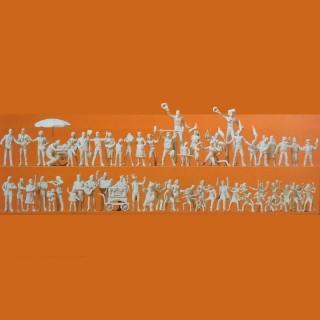 60 figurines autour de la fête de village ou foraine-HO-1/87-PREISER