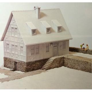 Mur en pierre maçonnées et trottoirs-HO-1/87-PREISER