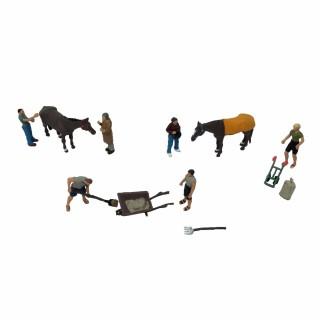 Figurines sur le thème de l'écurie-HO-1/87-NOCH