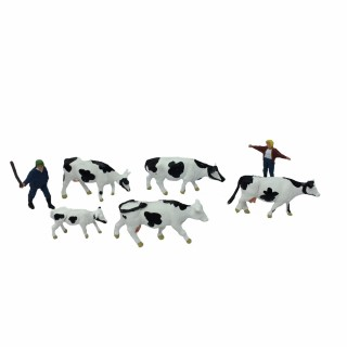 Vaches avec bergers-HO-1/87-NOCH