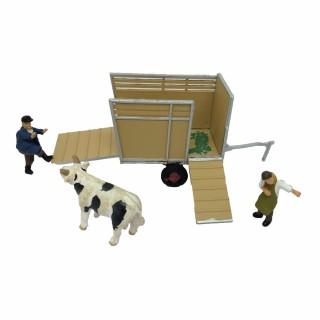 Transport d'un taureau avec personnages-HO-1/87-NOCH