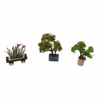 3 pots de fleurs déco jardin-HO-1/87-NOCH
