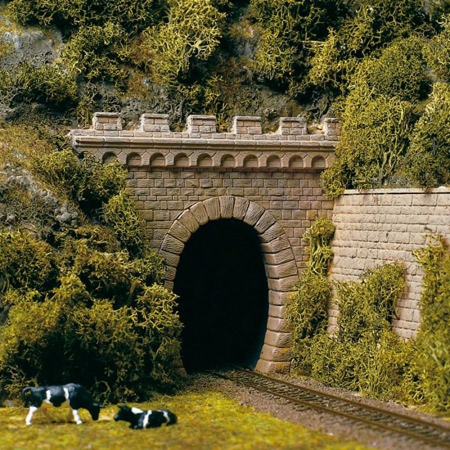 2 portails de tunnel 1 voie-HO-1/87-AUHAGEN 11342