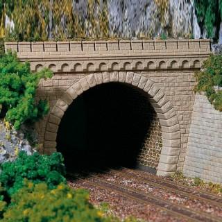 2 portails de tunnel 2 voies-HO-1/87-AUHAGEN 11343