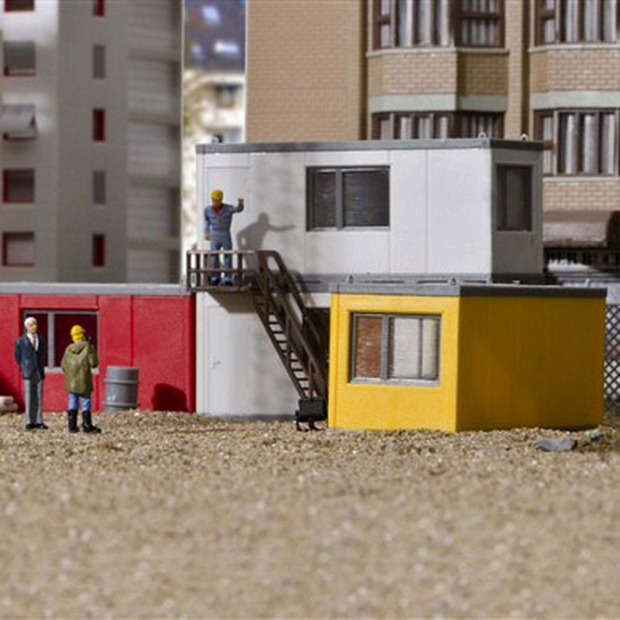 4 cabanes de chantier modulables-HO-1/87-KIBRI