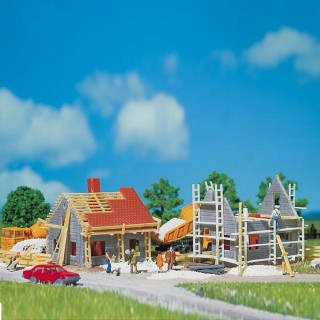 2 maisons en construction-N-1/160-FALLER
