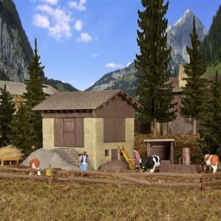 Grange de montagne avec accessoires-HO-1/87-KIBRI