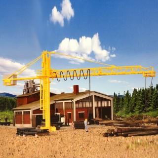 Grue de pour scierie ou chantier-HO-1/87-KIBRI
