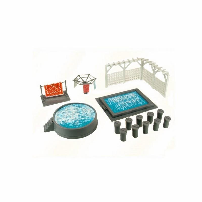 Kit piscine ho kibri 38148 modelisme ferroviaire diorama for Accessoire piscine 16