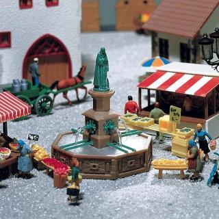 Fontaine de place de ville-HO-1/87-FALLER 180581