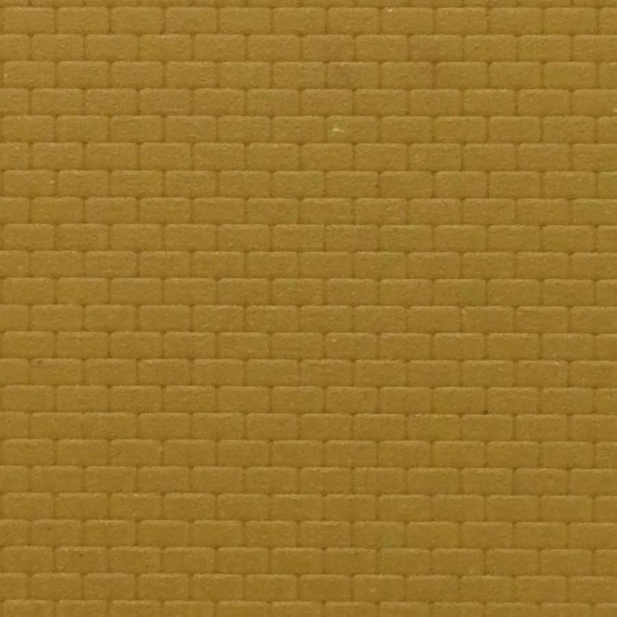 Plaque mur briques jaunes maçonnées-N-1/160-KIBRI