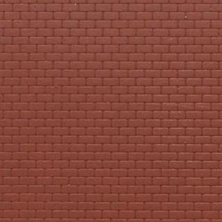Plaque mur briques rouges-N-1/160-KIBRI