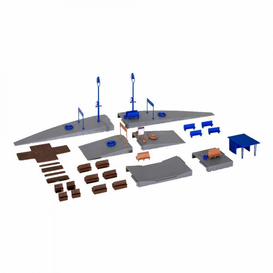 Complément de quai avec accessoires-HO-1/87-KIBRI